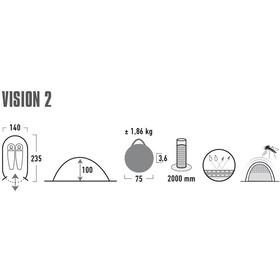 High Peak Vision 2 Tiendas de campaña, gris